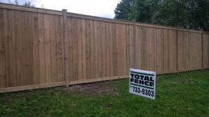 Pressure treated wood fence by Total Fence